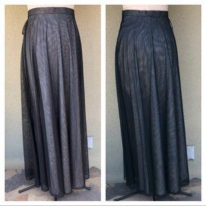 NEW Adrianna Papell black evening skirt